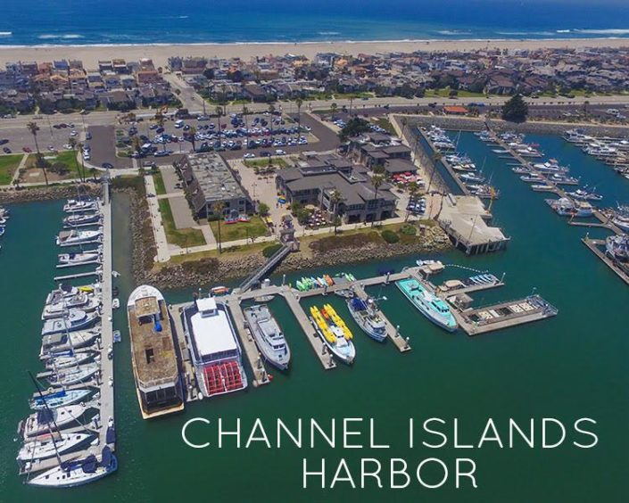 Channel Islands Harbor aerial view
